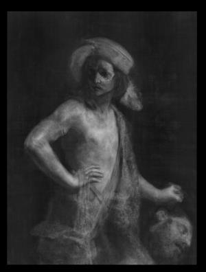 David Holding Goliath's Head