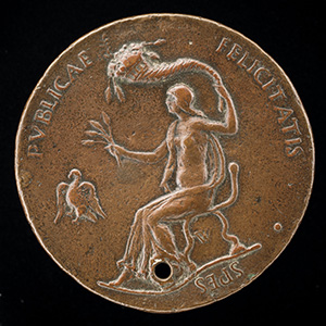 Ferdinand of Aragon, died 1496, Prince of Capua and King of Naples 1495 [obverse]; Felicitas Seated, Holding Ears of Corn and Waving Cornucopiae [reverse]