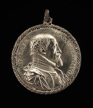 Maximilian II, 1527-1576, Holy Roman Emperor 1564 [obverse]; Maria, 1528-1603, Empress 1548 [reverse]