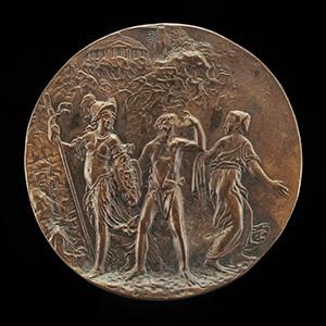 Baron Johann von Khevenhüller, 1537/1538-1606 [obverse]; Minerva, Hercules, and Vice [reverse]