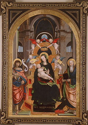 Madonna and Child Enthroned with Saints John the Baptist and John the Evangelist