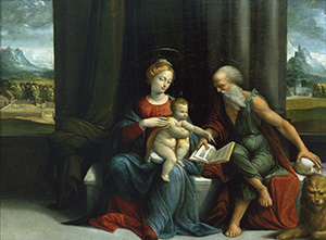 Madonna and Child with Saint Jerome
