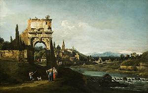 Capriccio with a Roman Arch