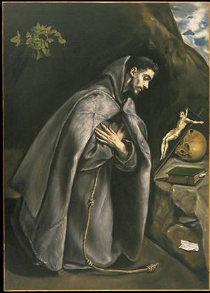 Saint Francis Venerating the Crucifix