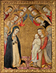 The Virgin in Adoration of the Christ Child with Saints Bernard and Bernardino and Angels