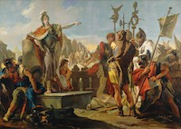 Giovanni Battista Tiepolo, Queen Zenobia Addressing Her Soldiers, 1725/1730, Samuel H. Kress Collection, National Gallery of Art